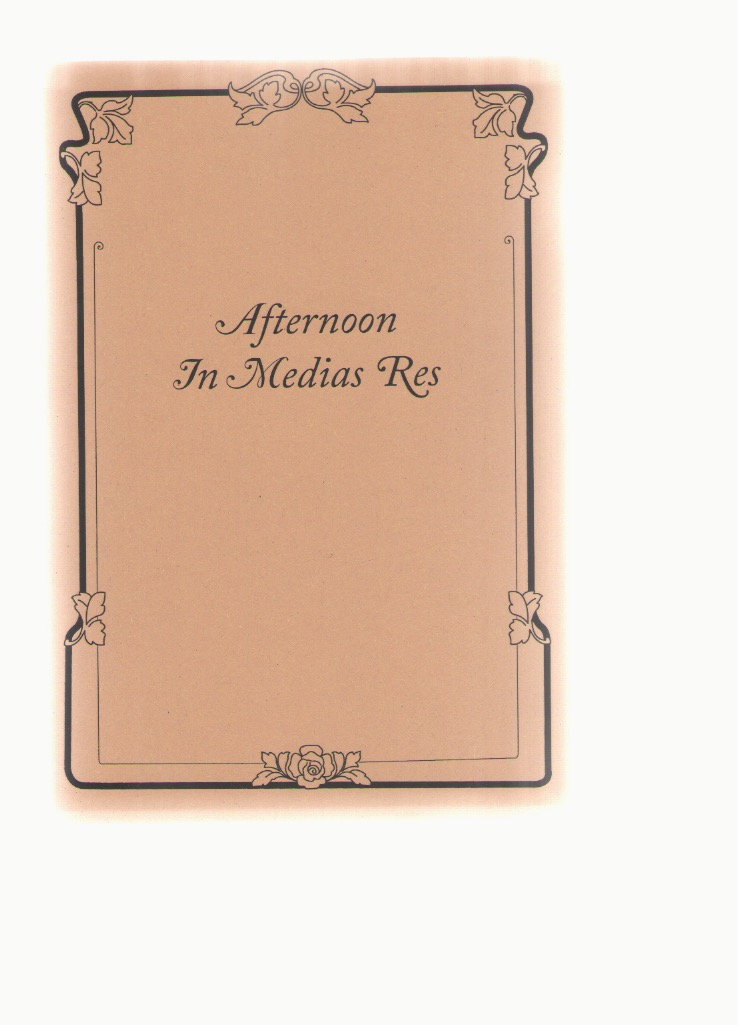 BYCROFT, Madison (ed.) - Afternoon in Medias Res