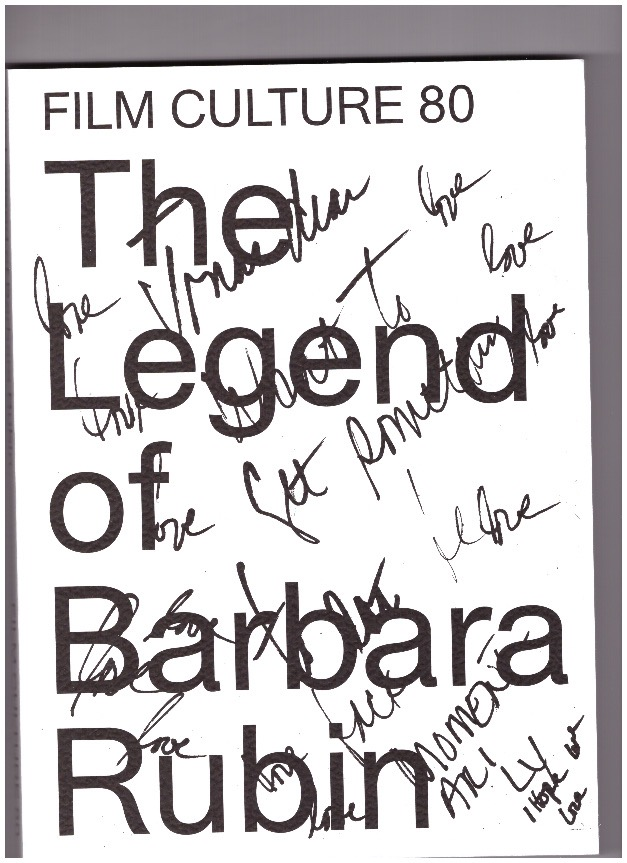 MEKAS, Jonas (ed.) - Film Culture 80. The Legend of Barbara Rubin