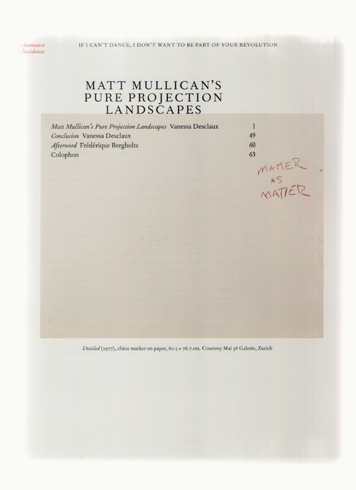 DESCLAUX, Vanessa - Matt Mullican's Pure Projection Landscapes (If I can't dance I don't want to be part of your revolution)