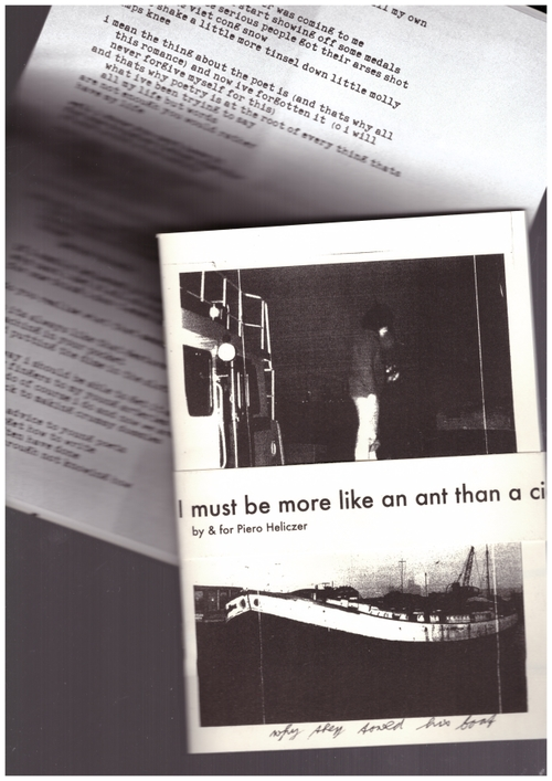 HELICZER, Piero - I must be more like an ant than a cigale because I like to sing in winter (Counter Culture Chronicles,Casioli Press,Sloow Tapes)