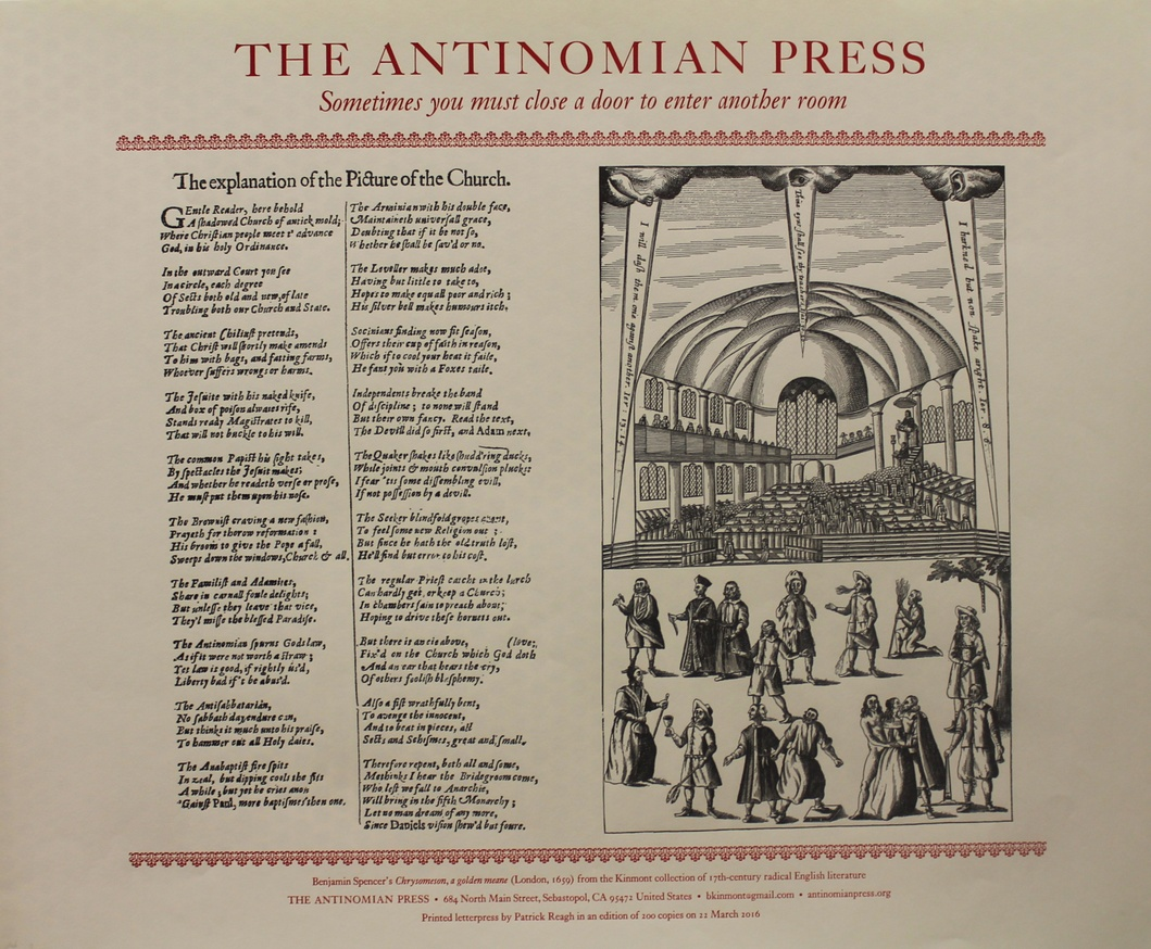 KINMONT, Ben - Antinomian Press: Sometimes you must close a door… (Broadside)
