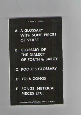 WHEELER, Susan - A Glossary with some pieces of verse