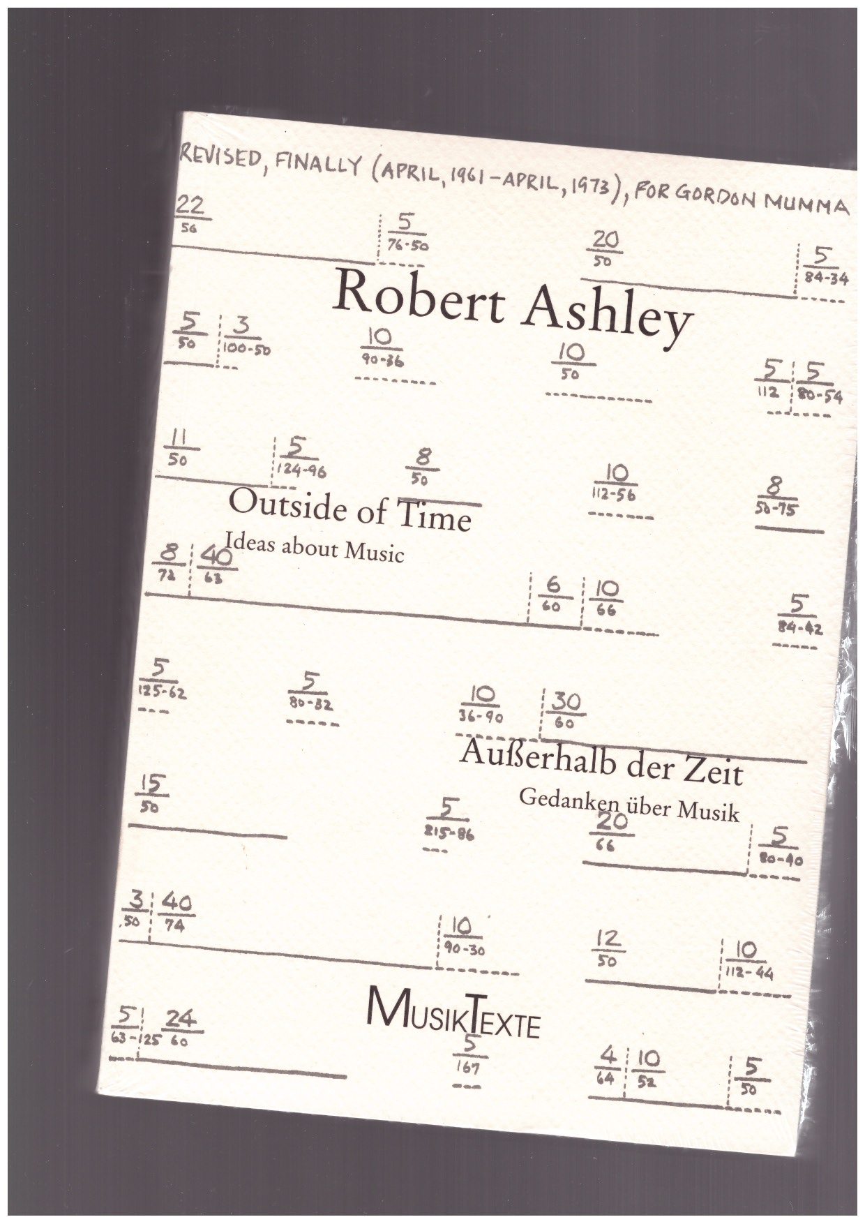ASHLEY, Robert - Outside of Time. Ideas about Music