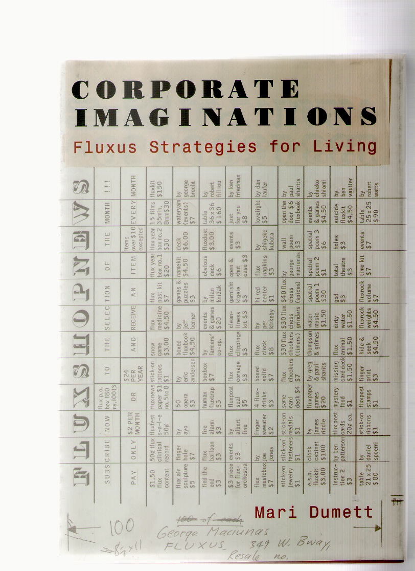 DUMETT, Mari - Corporate Imaginations. Fluxus Strategies for Living